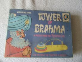 TOWER of BRAHMA Puzzle by Waddington's & Target Games - Complete 1971 game