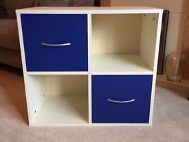 Cube storage unit (2X2) with 2 doors. 735mm X 400mm X 670mm