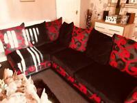 Corner Sofa and Swivel/Cuddle Chair