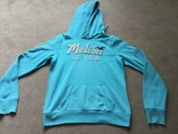 Turquoise Hollister Hoodie size Large