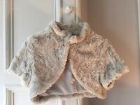Coast faux fur cream shrug - hardly worn