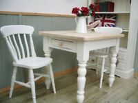 Stunning Pine Farmhouse 3ft Table and Chair Set.