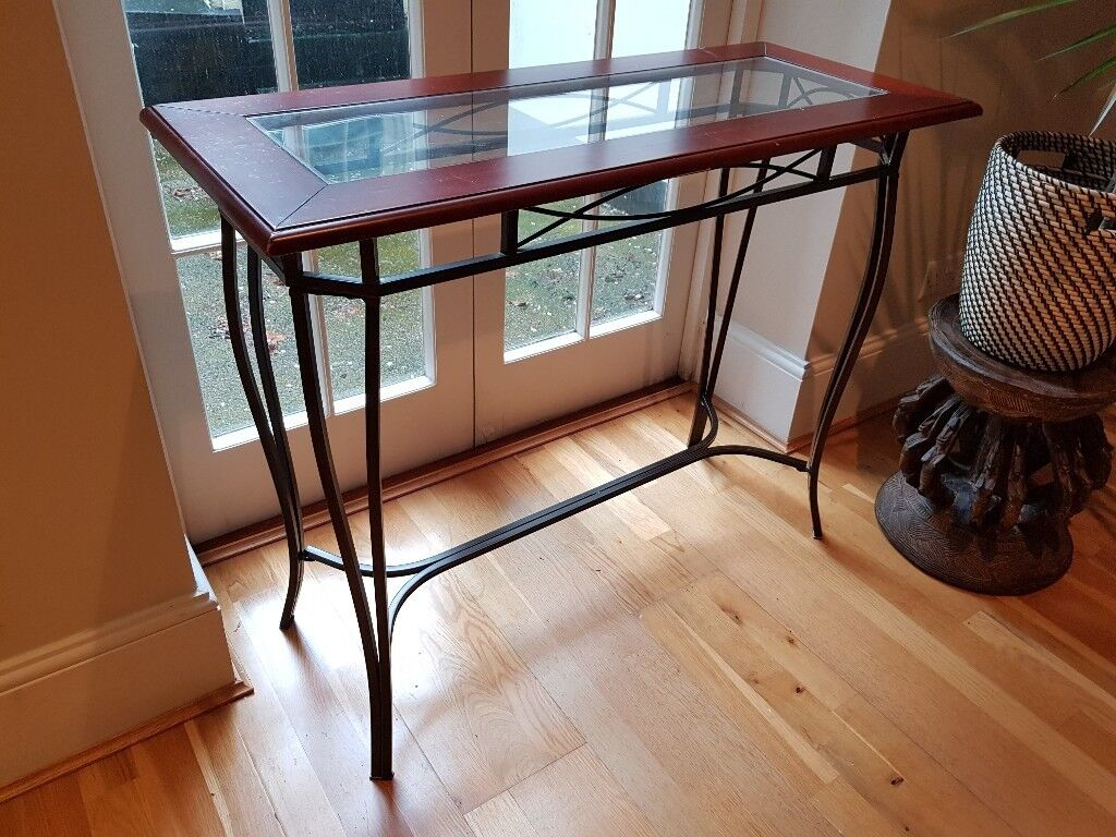 hallway console table. Brown Hallway / Console Table H