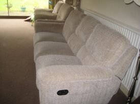 Recliner Sofa with two armchairs
