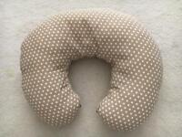 Naf-Naf Feeding Nursing Pillow with Slipcover taupe dots