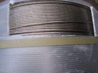 6mm Stainless Steel Wire Rope Marine Grade (1x6) Rope (1000) Metre Reel