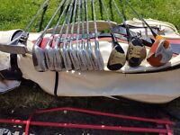 Golf clubs - Titleist blades, bag & trolley