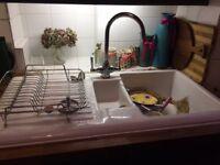 Ceramic sink and tap