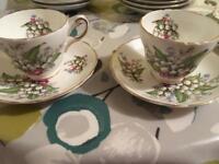 Bone china cups and saucer English