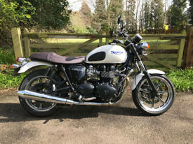 TRIUMPH BONNEVILLE, Low mileage and in great condition.