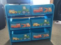 Boys toy storage drawers