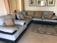leather L shaped sofa and arm chair immaculate condition