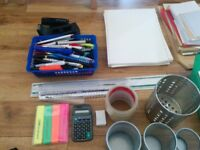 box of various stationery items ideal for school, college office - see pics for details