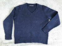 MARKS & SPENCER   M&S   Women Jumper   Merino Wool   Heavy Blue   Size S/XS   Perfect condition
