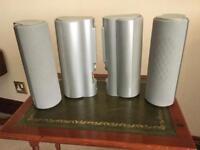 Four Toshiba Surround Sound speakers, 15w each