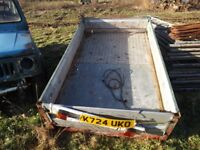metal garden type car trailer