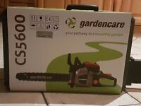 Gardencare chainsaw cs5600 (new in box)
