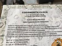 New sealed in box Disney beauty beast cogsworth clock working £25 each