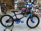 MUDDYFOX FRACTURE BMX BIKE 20 INCH WHEELS 360 GYRO BRAKES BLACK/BLUE EXCELLENT CONDITION CHRISTMAS
