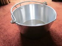 Large aluminium Jam making pot and other cooking items
