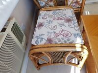 Good condition . Cane furniture. Washable covers. Comfy. Buyer collects
