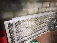 Galvanised gating/fencing