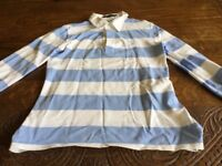 Man's Striped Ralph Lauren Polo Shirt Size M