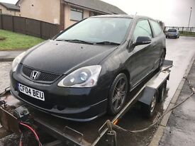 Honda Civic 2004 ep2 sport breaking, all parts