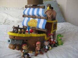 Jake and the Neverland Pirates Bucky Pirate Ship Play Set Disney