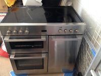 Belling DB4 90E range cooker in Stainless