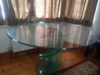 Glass Spiral Dining Table
