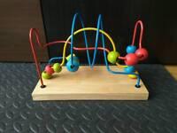 Activity wooden bead toy