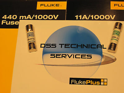 Fluke 440 Ma And 11 Amp High Voltage Fuse Pack - New