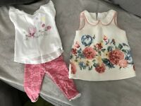 Baby girl clothes and shoes ages 0-3 months and 3-6 months