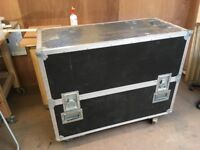 Large Flight Case with lockable wheels