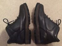 Mens Black Leather Rockport XCS Hydroshield Waterproof Boots Size 9, very good condition