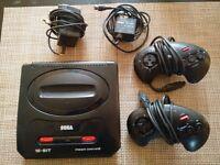 Sega Mega Drive II with 24 games
