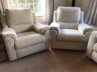 Parker Knoll Reclining Sofa and 2 Static Armchairs