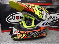 New 2018 Suomy Mr Jump Jackpot Yellow Helmet Thor Goggles Motocross S M L XL
