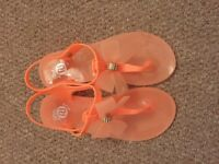 River island sandals size 2 like new