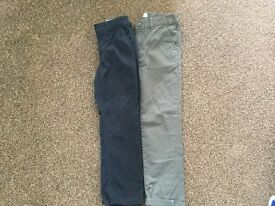 2 pairs boys trousers age 7-8