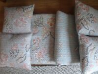Two quality bed throws with 4 matching cushions