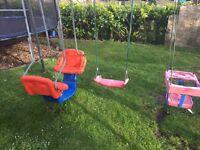 TP Triple swing -swing, double swing& baby seat