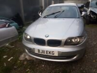 BMW 1 SERIES, silver, 2011, breaking for parts