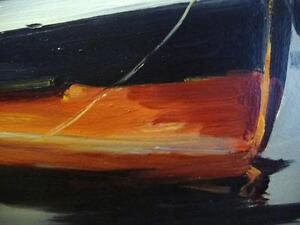 Listed Artist, Original Oil, Fishing Boat by Egbert Oudendag, Stratford Kitchener Area image 9