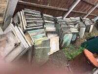 150+ (size 45 * 45) used patio square slabs