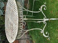 Antique french garden table and 4 chairs