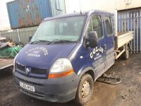 Renault master picup double cab breaking