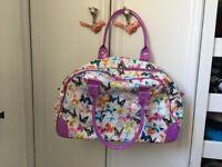Paperchase butterfly sleepover bag / hold-all