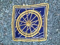 Blue and Gold Boat Wheel VINTAGE Scarf